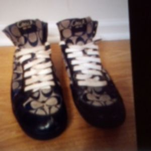 Coach brand logo black high tops size 9.5